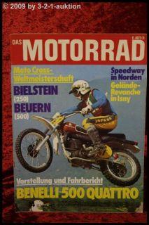 Das Motorrad 14/74 Benelli 500 Quattro BMW Motoren