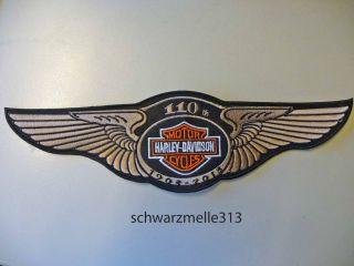 Harley Davidson 110 th. Anniversary Aufnäher 16 x 4,5 cm