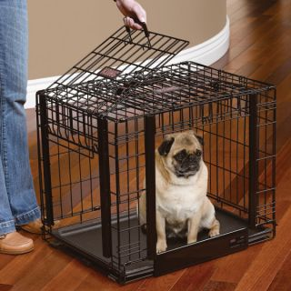 KONG� At Home Space Saving Double Door Crate   New Puppy Center   Dog