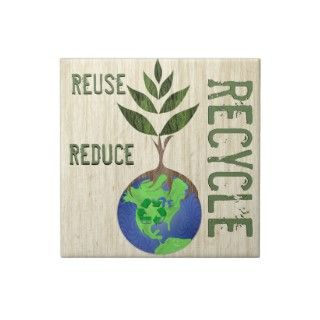 Reuse Reduce Recycle Tree Earth Globe Wood Grain by samack