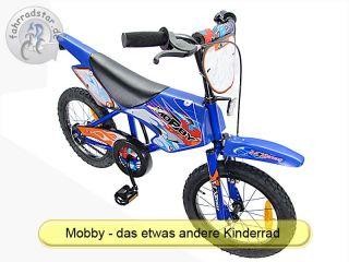 16 Zoll BMX Kinderfahrrad Mobby blau Moto Cross Rad, MTB Kinderrad