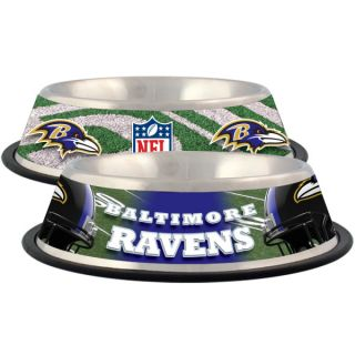 Baltimore Ravens Stainless Steel Pet Bowl   Team Shop   Dog