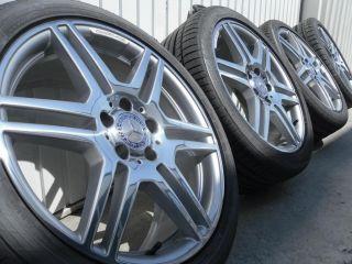 Mercedes W207 AMG Alufelgen Felgen Continental poliert