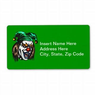 Treacherous Evil Clown Custom Shipping Label