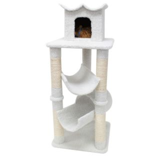 "Majestic Pet Products 47"" Bungalow Cat Tree   Furniture & Towers   Furniture & Scratchers"
