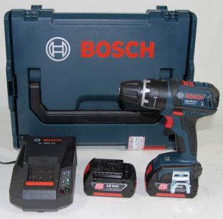 Bosch GSB 18 V Li Akku Schlagbohrschrauber 2x 3.0 Ah Li Ion Set