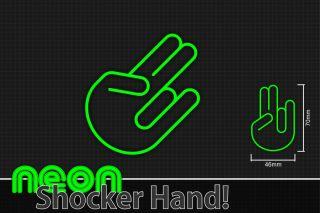 NEON SHOCKER HAND Trend Aufkleber Autoaufkleber DUB Sticker