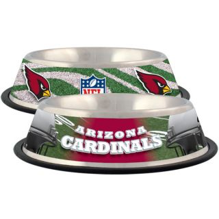 Arizona Cardinals Stainless Steel Pet Bowl   Team Shop   Dog