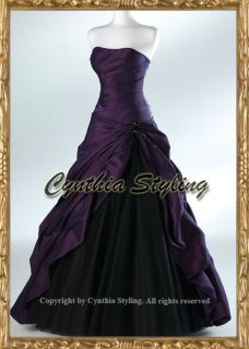 Purple evening prom ball pageant dress gown UK 6 22 MtM