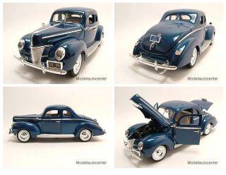 Ford Deluxe Coupe 1940 blau metallic, Modellauto 118 / Motormax