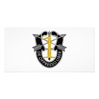 1st Special Forces Group Crest Photo Card Template