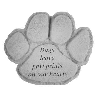 Dogs leave pawprintsPawprint Memorial Stone   Pet Memorials   Dog