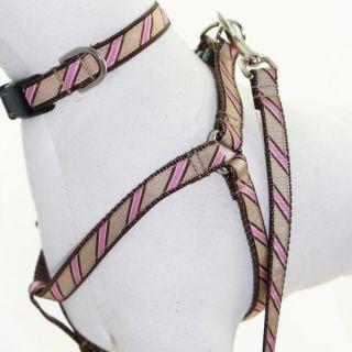 Lola & Foxy Nylon Dog Leashes   Pink/Tan