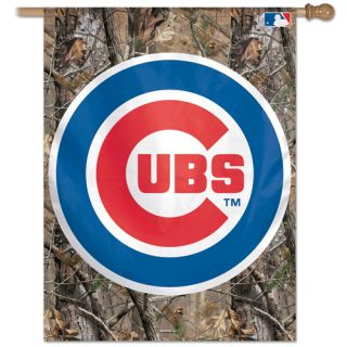 Chicago Cubs Camouflage MLB 27 x 37 Vertical Flag