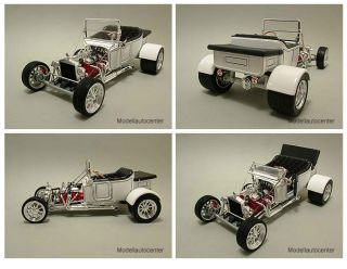 Ford T Bucket 1923 weiß Hot Rod, Modellauto 118 / Yat Ming