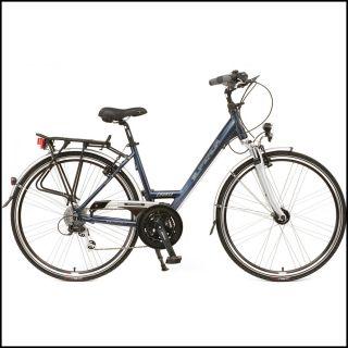 Damen Trekking Fahrrad Course 28 46cm 24 gang BIKE Dunkel blau