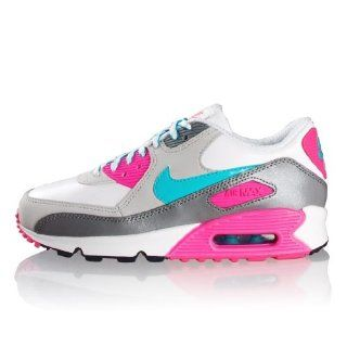 Nike Air Max 90 2007 Schuh Weiss Türkis Pink Schuhe