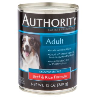 Authority� Adult Ground Entree Canned Dog Food   Sale   Cat
