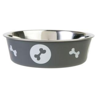 Top Paw Bella Dog Bowl   Charcoal