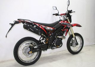 SBF 33 125cc/4Takt EEC Enduro Cross Dirt Bike Schwarz