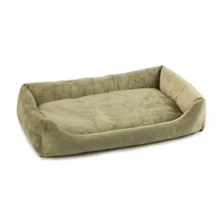 Pet Dreams Plush Eco Friendly Bumper Dog Bed   Sage