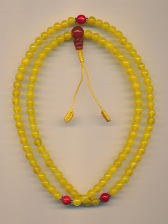 Kette Mala Citrine (6mm) Buddhismus Buddha Koralle Perlen 34