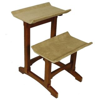 Mr. Herzher's Double Seat Wooden Cat Perch   Cat   Boutique