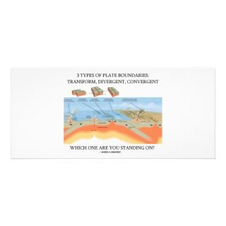Types Of Plate Boundaries   Which Standing On? Custom Rack Card