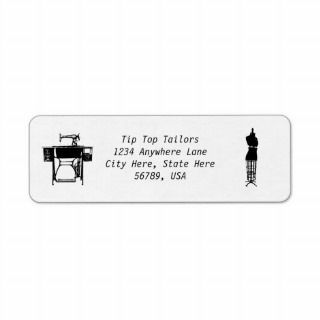 Custom Seamstress / Tailors Return Address Labels