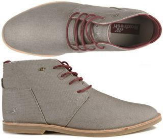 Schuhe Desert Boot Chuk waxed Canvas light grey grau 42, 43, 44, 45