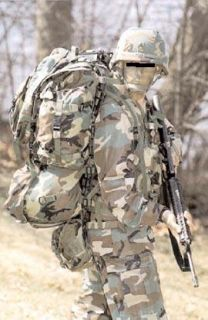 US Army Military Rucksack MOLLE Patrol pack woodland camouflage