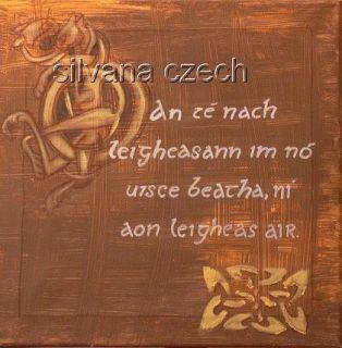 Celtic   IRISH Bild mit gälischer Schrift 40   40 cm