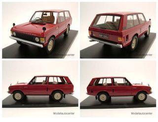 Range Rover Suffix A 1970 rot, Rechtslenker, Modellauto 118 / Neo