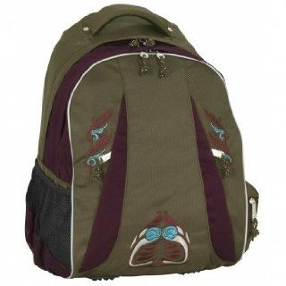 Take it easy Halfpipe Schul  Sportrucksack brown violet Rucksack