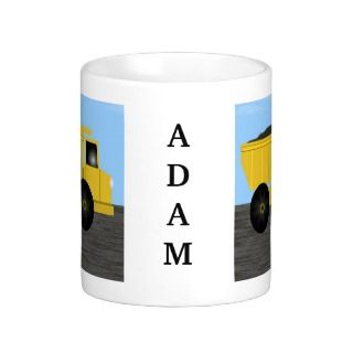 Adam Dump Truck Personalized Name Mug