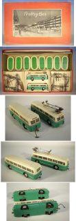 Trolley Bus Set grün in Original Box aus den 50/60er Jahre