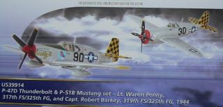 Corgi 1/72 P 47 THUNDERBOLT & P 51 MUSTANG Checkertails
