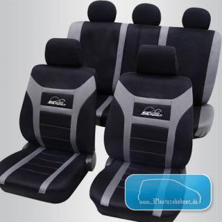 Auto Sitzbezüge Schonbezüge SUPER SPEED schwarz / grau