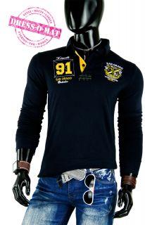 Polo Shirt SHIRT Hemd Langarm Longsleeve Gr 50 52 L schwarz