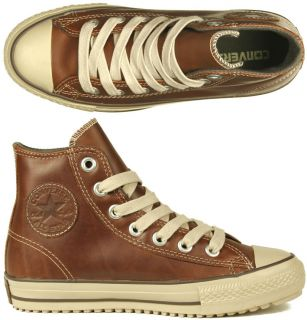 Converse Schuhe All Star Boot Mid leather pine cone brown braun Winter