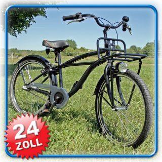 Fahrrad Kinderfahrrad Cruiser Bike 24 Schwarz Metallic