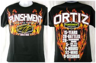 Tito Ortiz Punishment Athletics UFC 148 Retirement Walkout T shirt New