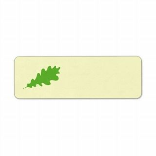 Green Leaf, Oak Tree leaf Design. Custom Return Address Label