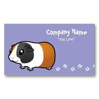 Guinea Pig (smooth hair) Business Card Template
