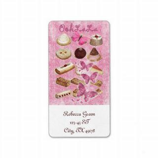 Oohlala empaion cookies Vinage Pink Paris Labels