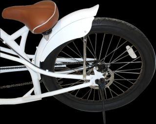 26 Zoll Chopper Fahrrad White XXL Cruiser Bike American Lowrider