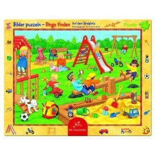 20255   Die Spiegelburg   Rahmenpuzzle Auf dem Spielplatz, 24 Teile