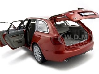 2004 AUDI A6 AVANT WAGON RED 1:18 DIECAST MODEL NOREV