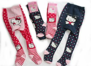NEU Hello Kitty Strumpfhose 74 80 86 92 98 104 Farbwahl Rot & Marine