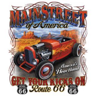 Shirt bedruckt American bedruckte T Shirts Route 66   Auto